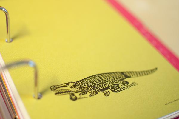 Strukturert papir med illustrasjon